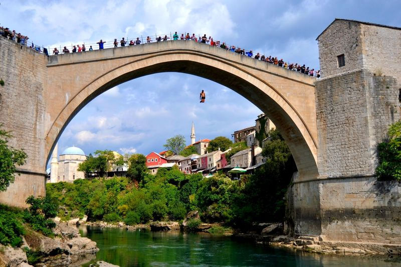Dubrovnik to Mostar day trip jumping off the bridge in Mostar