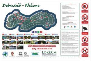 Lokrum Island Map